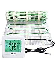 Elektrische vloerverwarming, 200 watt per m², thermostaat, touch-wit, elektrisch, TWIN-technologie, JWS, verschillende maten, grootte (m²): 6 m²
