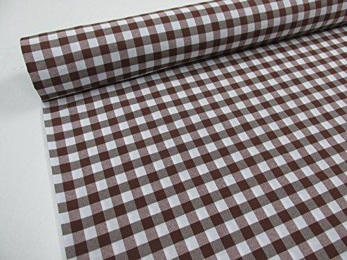 Confeccion Saymi Metraje 2,45 MTS Tejido Vichy Ref. Cuba Cuadro Medio 15x15 mm. Color Marron, con Ancho 2,80 MTS.