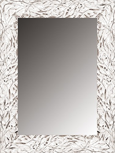 Lienzos Levante da2419 – 9 – Miroir décoratif sur Pied/tête, 163 x 53 cm, Couleur Blanc et Argent