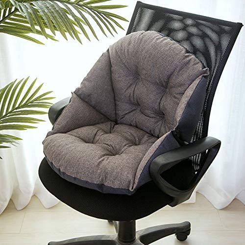 JanIST Unterstützung Taille Rückenpolster Sitzkissen, Verdicken Sie Korbsessel Stuhlkissen Für Rollstuhl Sessel Autositz Liege Bürostuhl Terrasse-o 48x40cm(19x16inch)