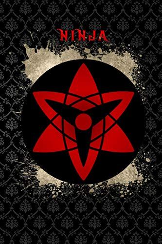 ninja: Sasuke Mangekyo Sharingan eye contact shinobi symbol Lined Notebook / Diary / Journal To Write In 6