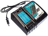 Makita DC18RC - Cargador rápido de baterías de ion de litio (7,2 - 18 V), color negro