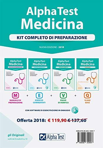 Alpha Test. Medicina. Kit completo di preparazione. Con software di simulazione da scaricare