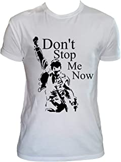 Camiseta Rock Fan Art Hombre Niño Don't Stop Me Now Grupos de Rock