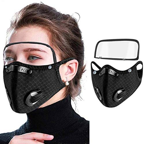 JSPOYOU Breathable Mouth Unisex Protection With Eyes Shield Detachable