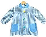 BeBright Babi Escolar Infantil, Bata Escolar Niña y Niño con Botones, Mandilón de Guardería - Fabricados en España (Azul Celeste, 1-2 Años)