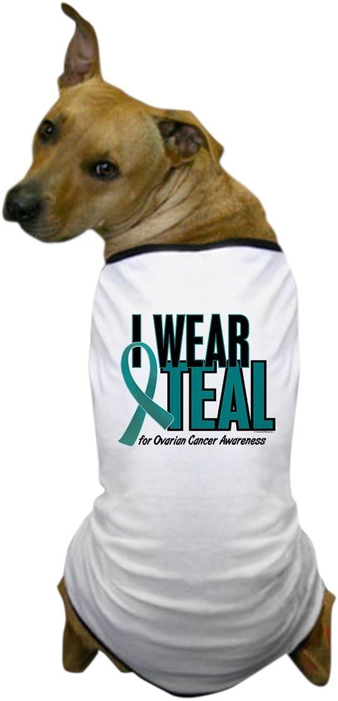 CafePress  I Wear Teal for Awareness 10 Dog TShirt  Dog TShirt, Pet Clothing, Funny Dog Costume