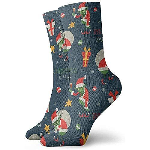 Be-ryl Socken Grinch Pattern Moisture Wicking Cushion Bunte lustige No Show Low Cut Crew Socken