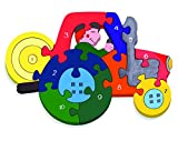 Alphabet Jigsaws - Puzzle de madera, 10 piezas