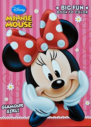 Disney Minnie Mouse Glamour Girl 96-page Farbeing Book by Disney