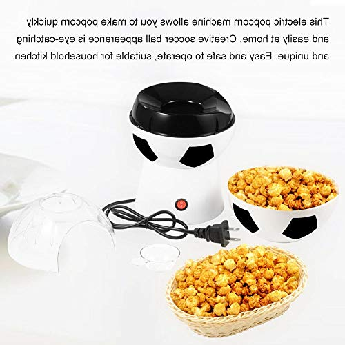 Amazing Deal OKSLO Creative soccer ball electric popcorn machine,household hot air popcorn maker us