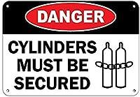 165グレートティンサインアルミニウム危険シリンダーは固定する必要があります可燃性の屋外および屋内サイン壁の装飾12x8インチ