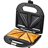 RJJBYY Sandwich Grill Waffle Maker Antiadherente Tostadora Panini Press 750w Acero Inoxidable Toastie Maker Ice Cream Maker