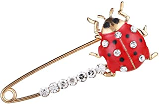 Crystal Rhinestone Animal Safety Brooches Pin Suit Sweater Scarves Scarf Brooch Charm for Women