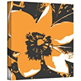 Art Wall Herb Dickenson 'Blooming Orange' Gallery-Wrapped Canvas Artwork, 14 by 14-Inch