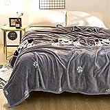 Mantas para Sofá de Franela Manta de paño Grueso y Suave Reversible Manta de Microfibra Manta de Doble Cara súper Suave, mullida, cálida y Ligera para Camas, sofás y sofá-W_230 * 250cm
