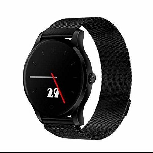 Fitness Tracker Uhr,Smartwatch Uhr,Herzfrequenz-Messgerät,Schrittzähler Verfolgung Kalorien Gesundheit,langlebige Batterie,Gestenerkennung,Bluetooth Anruf für Android 4.3 IOS 8.0 oder mehr