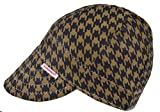 Comeaux Caps Reversible Welding Cap Black and Brown Houndstooth Size 8