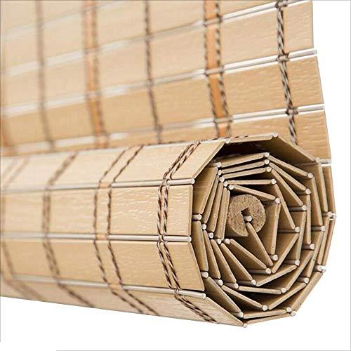 WEHOLY Cortina de bambú Material de PVC Cortina Decorativa Impermeabl