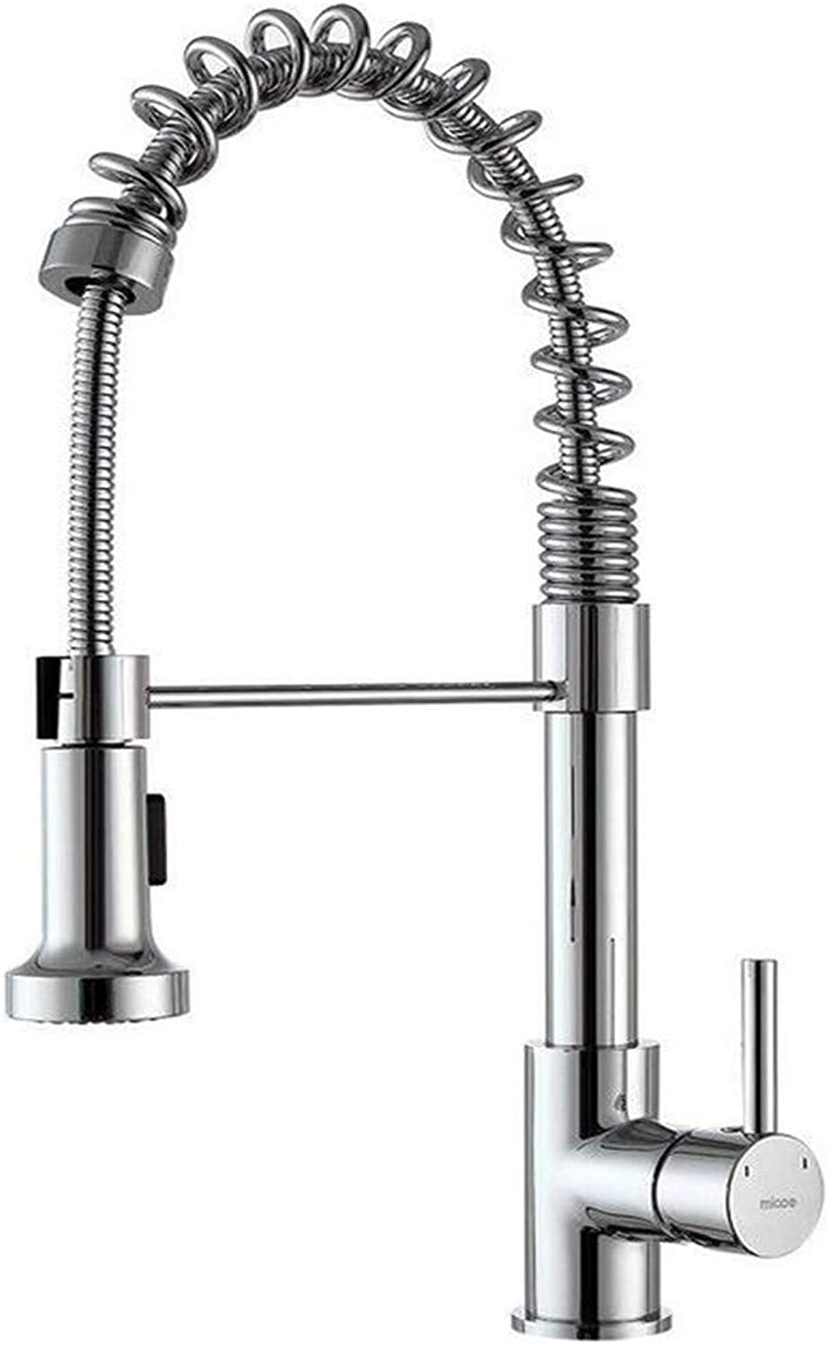 Retro Kitchen Hot and Cold Water 360 Degree redation Mixer Kitchen Tap Single Lever Swivel Spout Faucet Black and Chrome