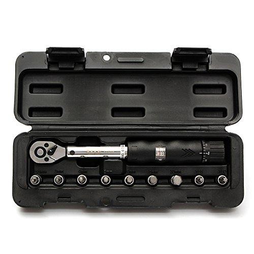 MJJEsports 1/4inch Drive 2-14NM Fiets Auto Drive Torque sleutel gereedschap Socket Set Kit