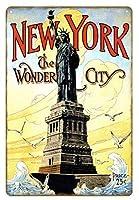 ニューヨークツーリストメタルサイン装飾ポスターレトロレトロウォールアートサインブリキ