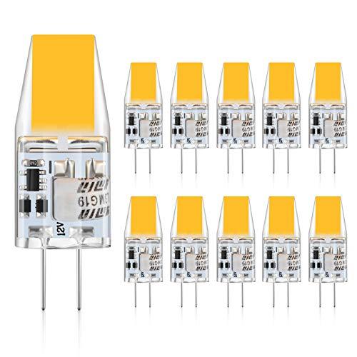 Defurhome G4 LED Lampen,3W LED Birnen ersetzt 30W Halogenlampen,300LM, Warmweiß 2900K,12V AC/DC,Kein Flackern Nicht Dimmbar, G4 LED Glühlampe,10er-Pack
