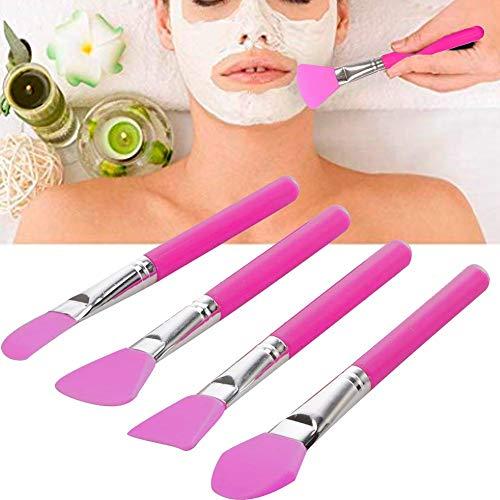 Professioneel zacht silicone gezichtsmasker kwastenset masker mengen roeren kwast make-up kwast maskers applicator kwast haarloos DIY gereedschap 2