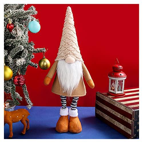 BTTKW 60CM Gran Gnomo Navidad Muñeca sin Rostro Decoraciones navideñas para árbol Adorno para el hogar Navidad Año Nuevo 2022 Gnomos navideños(Color:Brown)