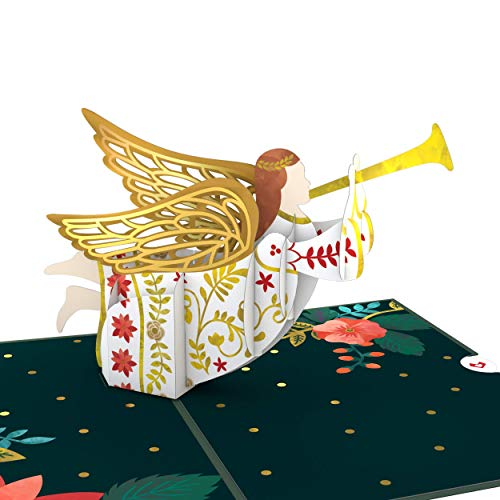Lovepop Holiday Angel Pop Up Card - Pop Up Christmas Card, Greeting Cards, 3D Card, Christmas Angel Card, Pop Up Holiday Card, Christmas Card, Religious Christmas Card