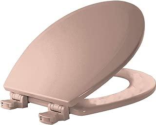 BEMIS 500EC 063 Toilet Seat with Easy Clean & Change Hinges, ROUND, Durable Enameled Wood, Venetian Pink