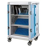 36-Unit Fully Assembled Mobile Charging Cart - Smart Charge & Cable Management - Compatible with Any Laptop & Tablet Screen Size up to 14 Inches