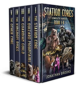 Station Cores Complete Compilation: A Dungeon Core Epic Books 1 through 5 by [Jonathan Brooks]
