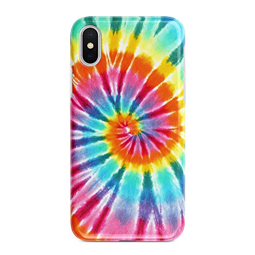 uCOLOR Case Compatible with iPhone Xs/X,iPhone 10 Protective Case Tie Dye Slim Soft TPU Silicone Shockproof Cover Compatible iPhone XS/X/10(5.8 inch)