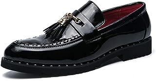 2018 Mens New Arrival Shoes, Men's Oxford Personality Rivet Classic Rustproof Tassel Formal Shoes
