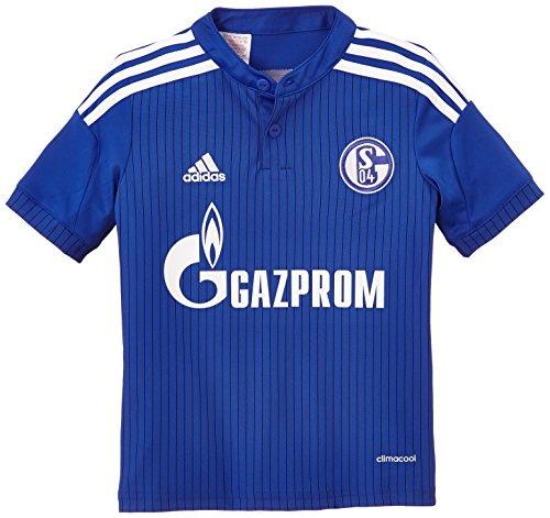 adidas Jungen Kurzarm Heimtrikot Schalke 04 Replica, Bold Blue/Night Blue/White, 152