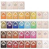 DEWEL 180g Naturale Pigmenti Coloranti, Mica Powder 5g*36 Colori Mica Polvere Colorante Polveri Perlato per DIY,Sapone, Slime,Candele, Acquerello, Cosmetici