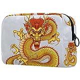 Neceseres para Maquillaje de niños Dragón Dorado Animales Bonitos Bolsa de Almacenamiento de Viaje de Impresa Personalizada 18.5x7.5x13cm