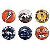 NFL Offizielle Denver Broncos Button, Anstecker, Pins als 6er Set -