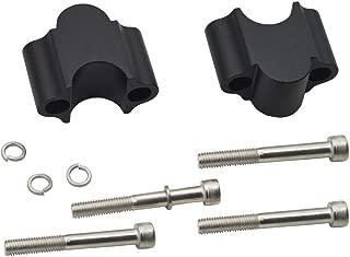 Matte Black Handlebar 30mm Riser Kit For 7/8