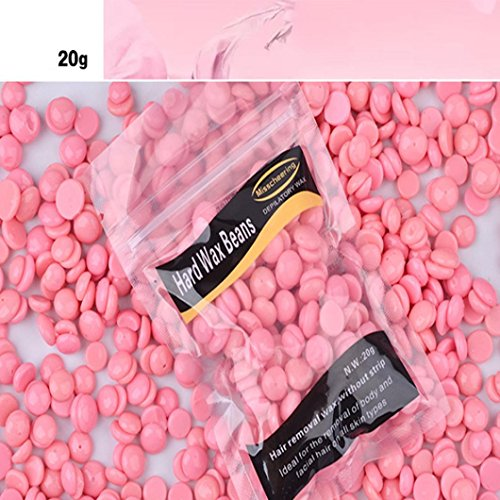 Vovotrade® Cire Pelable épilatoire Sans Bande Film Hot Hard Wax Granules Fartage Bikini Épilation Haricot (B)