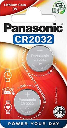 CR2032 Batterie de Pièces de Monnaie x 2 / Lithium 3V / pour Les Montres, Torches, Clés de Voiture, Calculatrices, Appareils Photo, etc / iCHOOSE