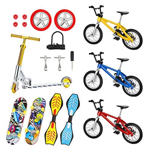 LQKYWNA Mini Patinetas De Bicicleta De 18 Piezas con Accesorios De Montaje, Juego De Juguetes Educativos para Niños Simulados De Aleación En Miniatura 1:18