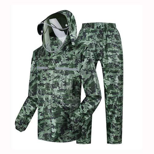 Militair groen masker regenjas regenbroek, split body anti-regen regenjas
