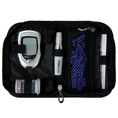 Carrying Case and Organizer for Diabetes Kits, Accessories, CGM Device, Lancets