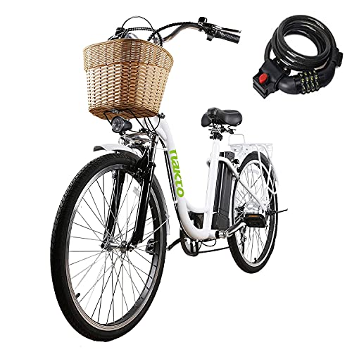 Electric Bike for Adults 350W 26'' NAKTO Camel Electric Bicycle Assisted Bicycle for Female Men with Removable Large Capacity Lithium Battery and Charger.