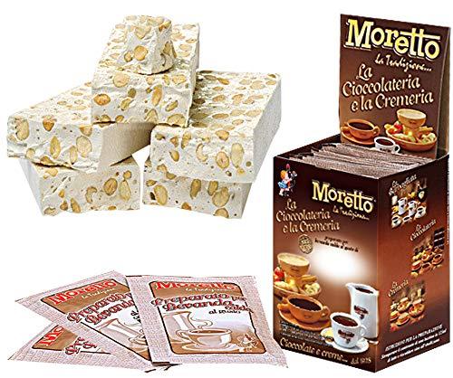 Cioccolata calda in tazza - MORETTO - gusto CIOCCOLATO e TORRONCINO - 1 scatola con 12 bustine
