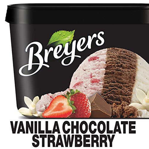 Breyers Ice Cream Vanilla Chocolate Strawberry - 48oz