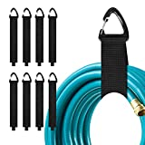 8 PCS Heavy Duty Storage Straps with Triangle Buckle, 16-inch Garage Organization Extension Cord Organizer, Hook and Loop Organizer Hanger for Cords, Cables, Hoses, Rope, RV, Boat, Garage, Home
