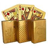 Zonster Goldfolien-Poker-Spielkarten Gold Poker Farbe Wasserdichten Poker 24k Gold Cards -